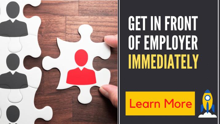 get infront of employer-trendy career