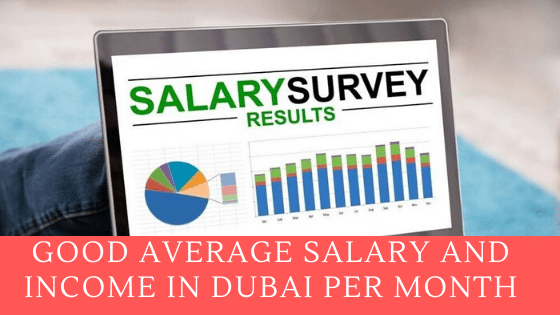 good average salary and income in Dubai per Month